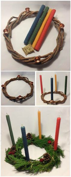 Holy Night, Winter Holidays, Christmas Diy, Handmade, Advent Candles, Scented Candles, Dates, Christmas Ornaments, Good Ideas