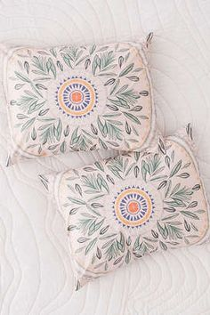 Iris Sketched Floral Sham Set #throwpillows #ad #bohobedroom