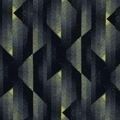 Black and Sulphur Spring Abstract Geometric Printed Viscose Batiste Fabric by the Yard | Mood Fabrics