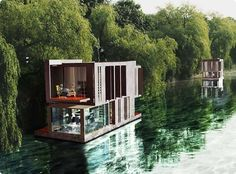 Best Ideas For Modern House Design : – Picture : – Description Floating House by Zurl Architekten Floating Architecture, Amazing Architecture, Architecture Design, Water House, Floating House, Little Houses, Beautiful Homes, Building A House, Construction