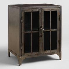 Metal Virgil Accent Table: Gray/Metallic By World Market. Glass CabinetsBathroom  CabinetsGlass Cabinet DoorsBasement ...