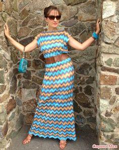 Летнее платье от Миссони спицами, ОПРОС на он лайн