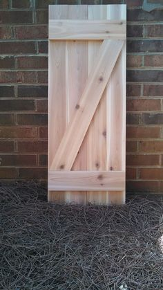 Custom Handmade Exterior Cedar Board and Batten Wood Shutters #Handmade