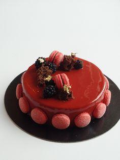 Recette entremet Loulou chocolat framboises - Olivia Pâtisse