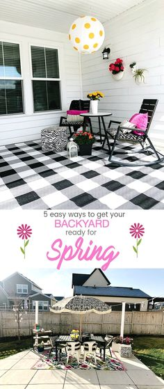 5 Easy Ways to Get Your Backyard Ready for Spring! 5 Easy Ways to Get Your Backyard Ready for Spring Outdoor Areas, Outdoor Rooms, Outdoor Decor, Outdoor Living, Spring Projects, Diy Projects, Raised Garden Bed Plans, Solar Lanterns, Backyard Lighting