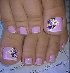 Gel Toe Nails, Acrylic Toe Nails, Feet Nails, Toe Nail Art, Pretty Toe Nails, Cute Toe Nails, Toe Nail Color, Nail Colors, Toenail Art Designs