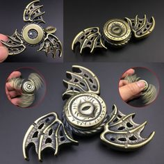 Wings Hand Tri-Spinner Fidget Toy Metal EDC Sensory Fidget Spinners Stress Reliever
