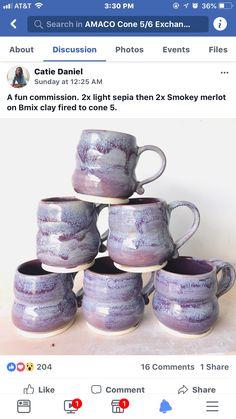 light sepia, then smokey merlot, b mix, cone 5 Glazes For Pottery, Pottery Mugs, Ceramic Pottery, Pottery Ideas, Glazed Pottery, Pottery Bowls, Glazing Techniques, Pottery Techniques, Art Techniques