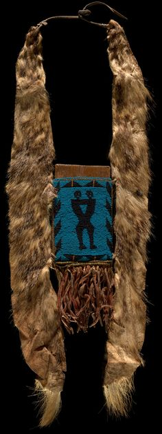 Infinity of Nations: Art and History in the Collections of the National Museum of the American Indian - George Gustav Heye Center, New York  1860 mirror board and pouch