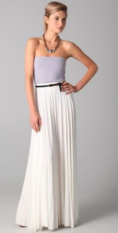 Tube top + maxi skirt + belt - comfortable and chic!!!