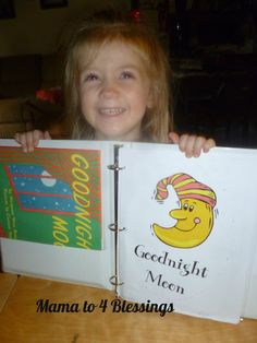 Goodnight Moon Lapbook + Activities from Mama to 4 Blessings