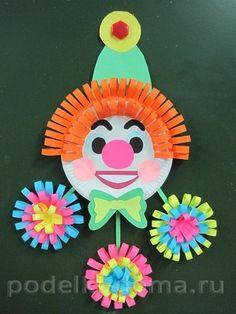 Schauen Sie mal diese Anleitung und probieren Sie mal selber mit Kinder schönen Clown aus Pappteller basteln. Es ist ganz toll und bringt Spaß!