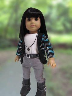 American Girl Doll Clothes  Six Piece Gray by JenAshleyDollDesigns, $32.00