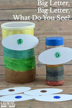 Read Brown Bear, Brown Bear, What Do You See? and then do this playful alphabet activity to work on letter identification.