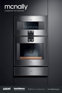 The Difference is Gaggenau from McNally Living Kitchens. Gaggenau appliances have been created by hand for over 330 years and feature many exclusive features that are perfectly at home in the modern kitchen. Kitchen Appliance Storage, Kitchen Pantry, Kitchen Appliances, Kitchens, Luxury Homes Dream Houses, Electrical Appliances, Brushed Metal, Design Consultant, Locker Storage