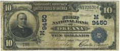 There were 648 different banks in Ohio that issued national currency. Only one of those banks was in Okeana. Today only eight other large size notes are documented as still existing from it. This new discovery is from The M&M hoard and it becomes the oldest note on the bank.