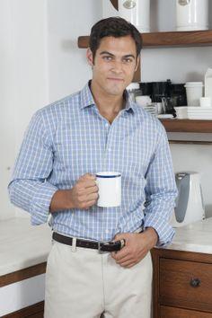 Markus & Ross 'Antibes' Italian cotton dress shirt. Love it for business or casual.   www.markusandross.com