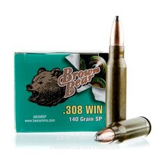 Brown Bear 308 Win Ammo - 500 Rounds of 140 Grain SP Ammunition #308Winchester #308WinAmmo #BrownBear #BrownBearAmmo #BrownBear308Win #SPAmmo