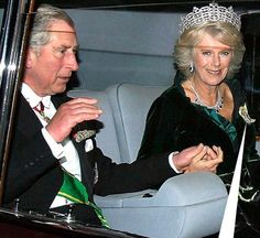 Prince of Wales and Duchess of Cornwall Never ever saw him do that with Diana..?