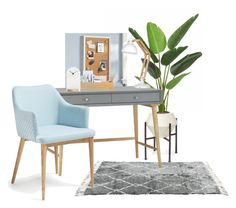 """""""Home Office"""" by atpstudio on Polyvore featuring interior, interiors, interior design, Casa, home decor, interior decorating, Palecek, PBteen, L'ATELIER d'exercices e home office"""