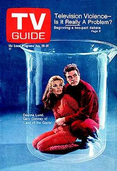 Land of the giants  t v guide covers | Land of the Giants - Deanna Lund and Gary Conway on the cover of Tv ...