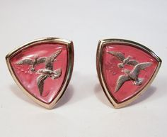 Vintage Men's Cuffliinks Reverse Carved Glass by GretelsTreasures