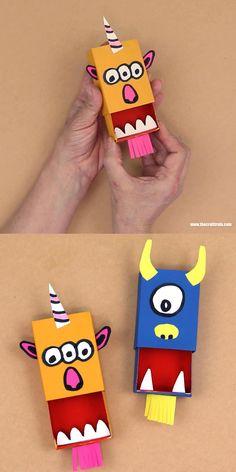 Matchbox monster puppet