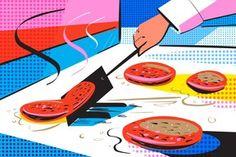 Illustrated Shake Shack hamburger scrape