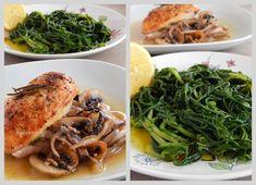 Μια ελαφριά και νόστιμη συνταγή για Κοτόπουλο με μανιτάρια και μουστάρδα made by Pepi's kitchen! Seaweed Salad, Spaghetti, Chicken, Meat, Ethnic Recipes, Food, Essen, Meals, Yemek