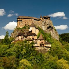 Orava castle, Slovakia, along the Orava river.