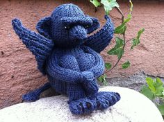 Ravelry: Coala's Gargoyle ooh id love to knit a gargoyle they always looks so cross and evil yet there is just something cute about them x