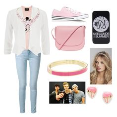 """""""Hanging with 5sos"""" by leila-hussain ❤ liked on Polyvore featuring Frame Denim, Markus Lupfer, Converse, maurices, Mansur Gavriel, Express, Kate Spade, Me & Zena and Humble Chic"""