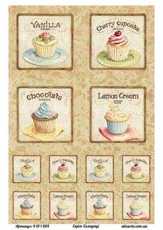 Картинка для декупажа с сладостями 9011004