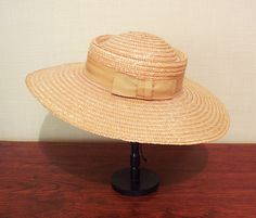 Vintage 60s Picture Garden Natural Straw Hat by MyPrettyLittleHat