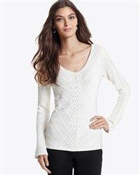 cute white sweater!