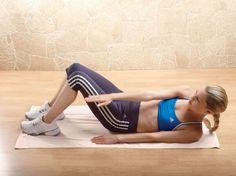 Haciendo ejercicios para cintura
