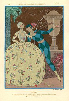 Arlequin,1914 by Georges Barbier