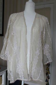 8c80f1e3ba Anthropologie Kimchi Blue Kimono Jacket Cream Ethereal and Sweet Excellent  XS  KimchiBlue  Blouse Blue