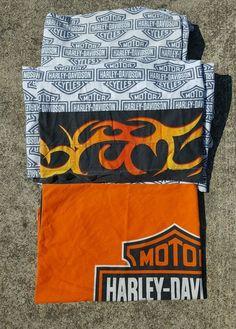 Harley Davidson Twin Size Sheet Set Pillowcase Flat Sheet Fitted Sheet Fabric | eBay