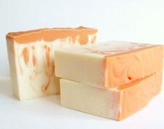 Blood Orange Soap  Shea Cocoa Butter Vegan by ABreathOfFrenchAir, $6.00