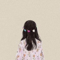Aesthetic Girl, Aesthetic Anime, Girl Cartoon, Cartoon Art, Cover Wattpad, Flower Art Drawing, Cute Couple Art, Girly Drawings, Cute Girl Wallpaper