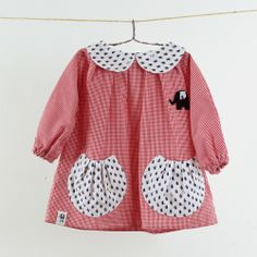 Image of Bata ¡Ahoy! Kids Dress Up, Little Girl Outfits, Toddler Girl Dresses, Little Dresses, Kids Outfits, Blouse Ecole, Smocked Baby Dresses, Pretty Little Dress, Frocks For Girls