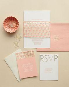 Stencil Cutout invitation | Get inspired with Martha Stewart wedding invitation ideas!