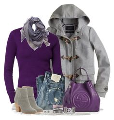~SHADES OF PURPLE & GREY~ by tufootballmom on Polyvore featuring KING, rag & bone, Stella & Dot, Tory Burch, Blue Nile, Aerie, Old Navy and J.Crew