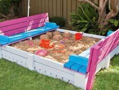 How to build your own covered sandbox complete with benches #howto #make #diy #samdbox