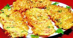 Vegetable Pancakes, Potato Vegetable, Vegetable Recipes, Chicken Recipes, Czech Recipes, Ethnic Recipes, Sweet Potato Rice, Italian Street Food, Le Diner