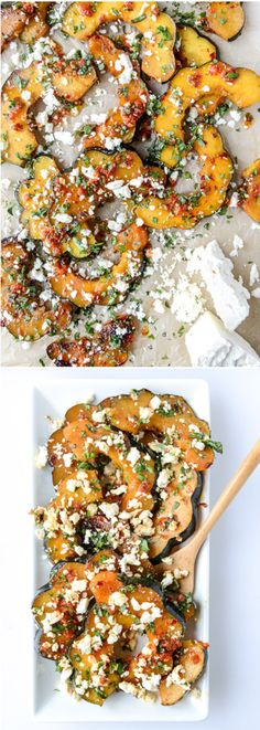 Spicy Roasted Squash with Feta from @howsweeteats I howsweeteats.com