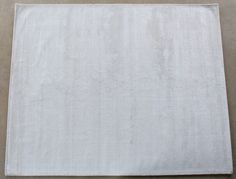 RUG238: 8' x 10' White Hand-loomed Wool/Silk Pile Rug (1)