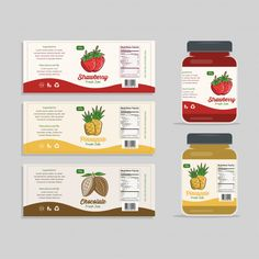 Food packaging design plays a significant role in the success of the product as it attracts consumers most.Here 10 Essential Elements of Food Packaging Design. Jam Packaging, Food Packaging Design, Bottle Packaging, Packaging Design Inspiration, Brand Packaging, Coffee Packaging, Product Packaging, Product Label, Food Labels