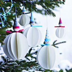 Fabriquer des décorations de sapin en forme de bonhommes de neige